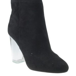 Call It Spring Black Ankle Bootsx Size 6.5 168368